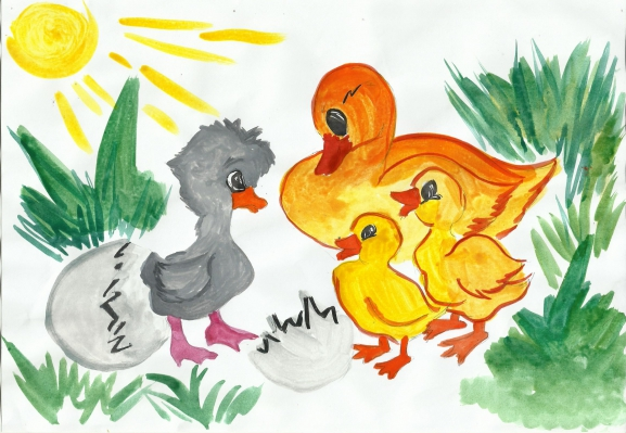 Сказки андерсена рисунок детей