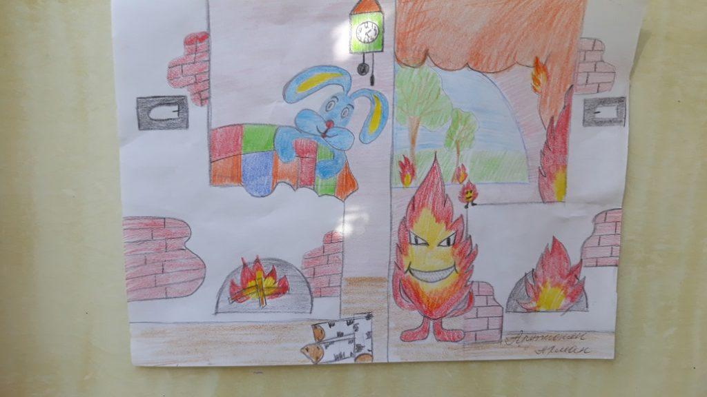 Рисунки карандашом огонь враг пределами