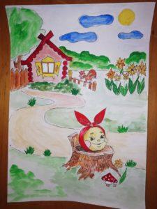 рисунок по сказке Колобок