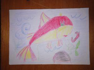 рисунок по сказке Золотая рыбка