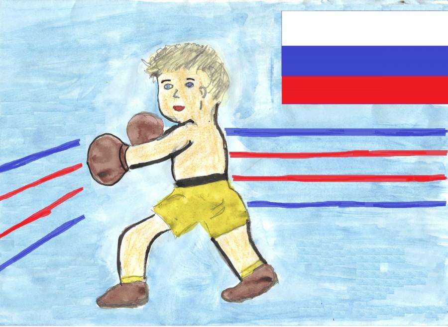 Рисунки спорт глазами детей легко