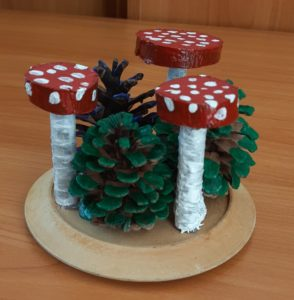 поделки осенние грибы