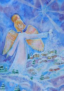 конкурс рисунков зима