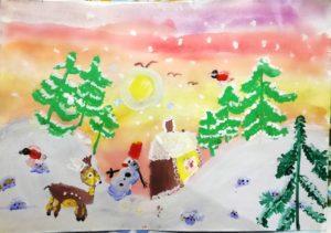 конкурс зимушка зима рисунки поделки всероссийский международный