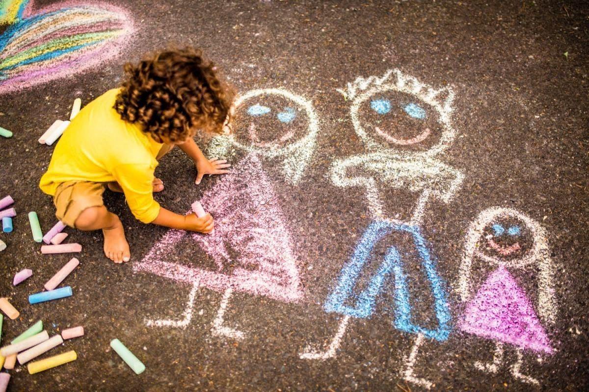 конкурс рисунков лето на асфальте