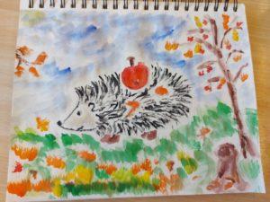 конкурс осень рисунки дети