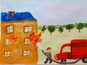 экспресс конкурс пожарная безопасность рисунки
